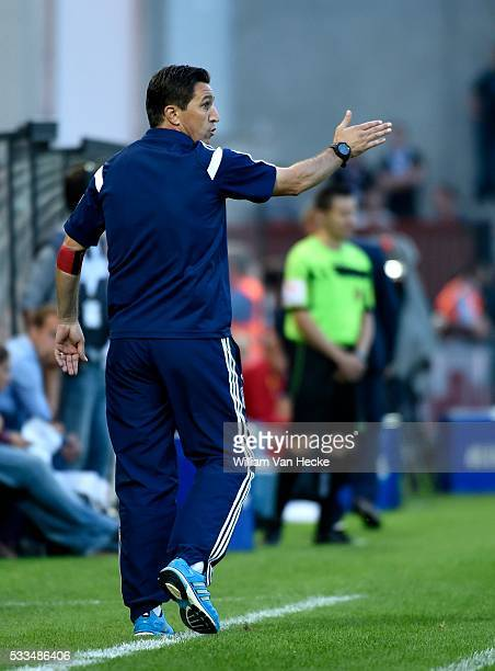 Head coach Besnik Hasi of RSC Anderlecht during the Jupiler Pro league match between KVOostende and RSC Anderlecht on 1 august 2014 in Oostende...