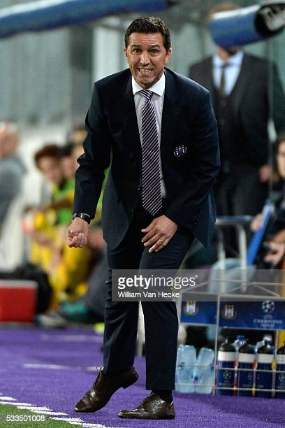 Head coach Besnik Hasi of RSC Anderlecht during the UEFA Champions League Group D match between RSC Anderlecht and Borussia Dortmund at the Constant...