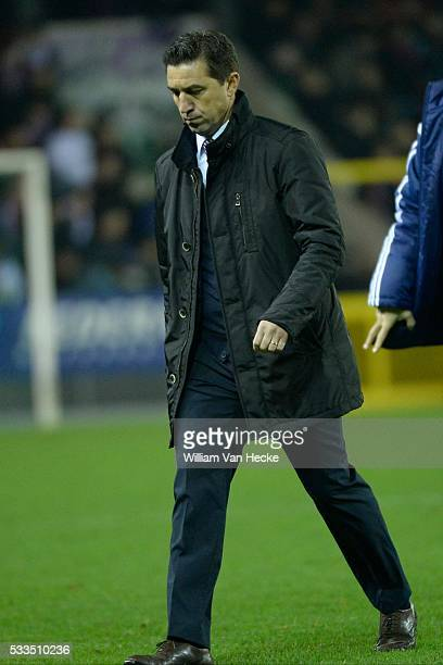 Head coach Besnik Hasi of RSC Anderlecht pictured during the Jupiler Pro League match between Mouscron Peruwelz and Rsc Anderlecht on the Canonnier...