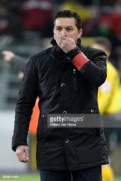 Head coach Besnik Hasi of RSC Anderlecht pictured during the Jupiler league match between Rsc Anderlecht and Zulte Waregem on February 01 2015 in...