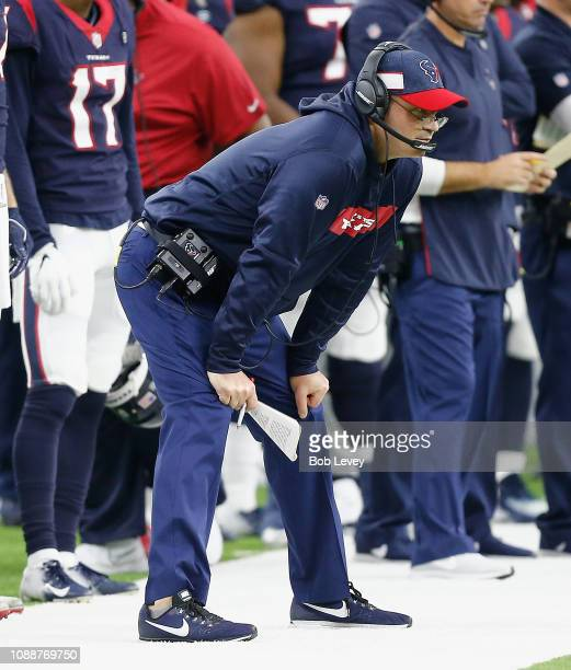Head coach Bill O'Brien of the Houston Texans during the fourth quarter against the Jacksonville Jaguars at NRG Stadium on December 30 2018 in...