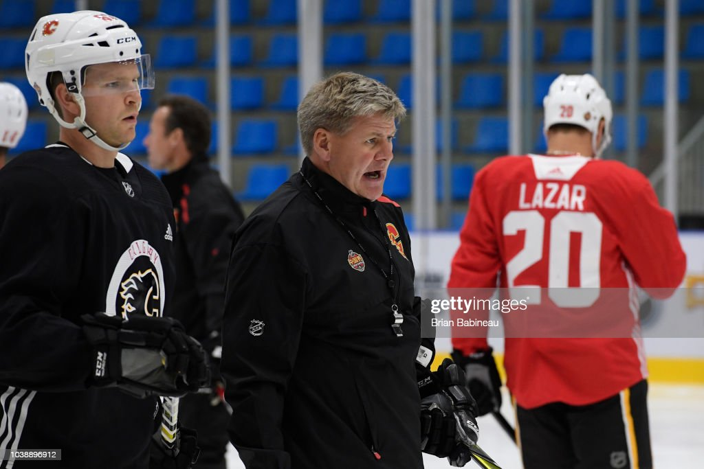 O.R.G. NHL China Games - Calgary Flames Practice Session : News Photo
