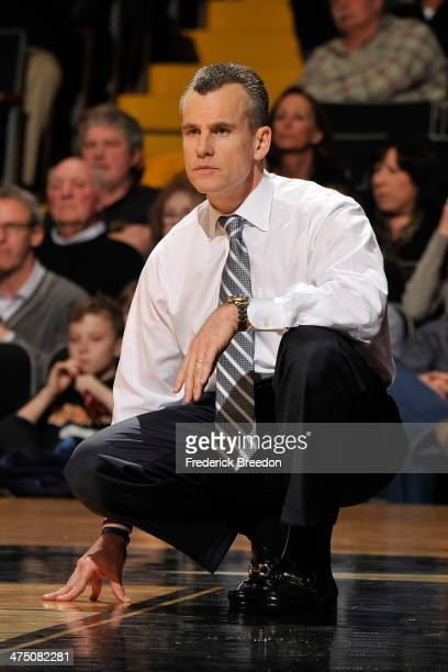 Head coach Billy Donovan of the Florida Gators coaches against the Vanderbilt Commodores at Memorial Gym on February 25 2014 in Nashville Tennessee