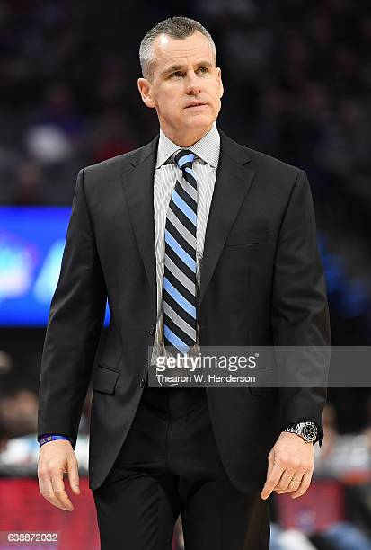 Head coach Billy Donovan of the Oklahoma City Thunder looks on against the Sacramento Kings during an NBA basketball game at Golden 1 Center on...