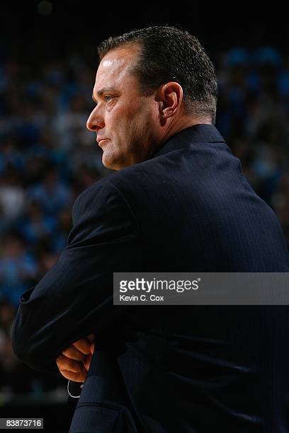 Head coach Billy Gillispie of the Kentucky Wildcats looks on during the game against the North Carolina Tar Heels at the Dean E Smith Center on...