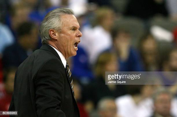 Head coach Bo Ryan of the Wisconsin Badgers coaches against the Kansas State Wildcats during the Midwest Region second round of the 2008 NCAA Men's...