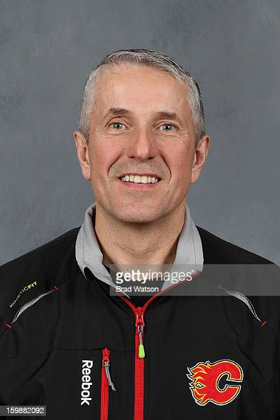 Head Coach Bob Hartley of the Calgary Flames poses for his official headshot for the 20122013 season on January 14 2013 at the Scotiabank Saddledome...