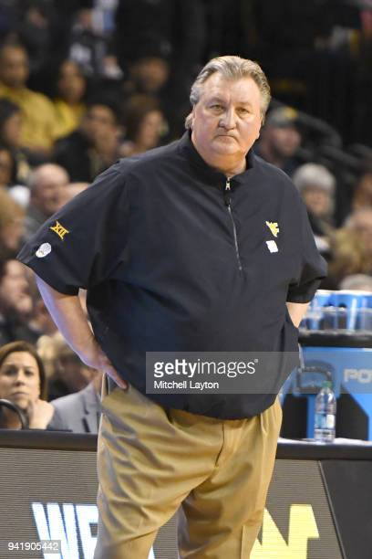 Head coach Bob Huggins of the West Virginia Mountaineers looks on during the 2018 NCAA Men's Basketball Tournament East Regional against the...