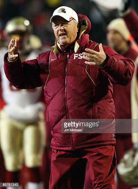Head coach Bobby Bowden of the Florida State Seminoles gestures during his teams game against the Maryland Terrapins on November 22 2008 at Byrd...