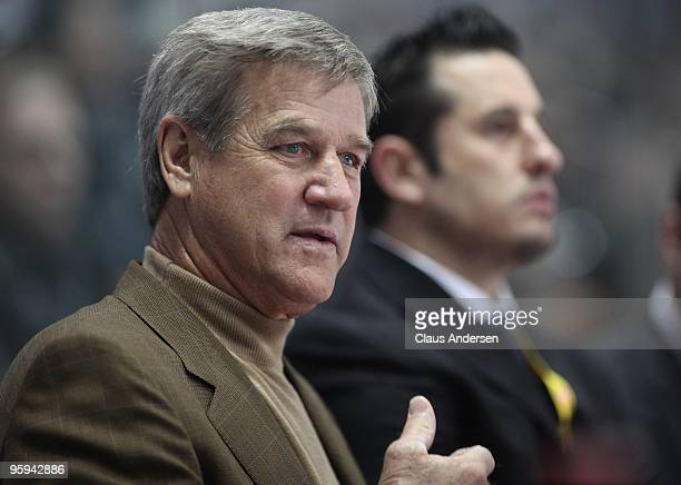Head Coach Bobby Orr of Team Orr watches the play on ice during the Home Hardware CHL/NHL Top Prospects game against Team Cherry on January 20 2010...