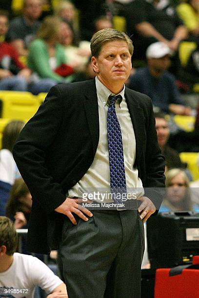 Head Coach Brad Jones of the Utah Flash watches from the sidelines during the D-League game against the Reno Bighorns on December 11, 2009 at the...