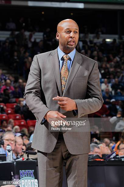 Head coach Brian Shaw of the Denver Nuggets coaches against the Sacramento Kings on January 9 2015 at Sleep Train Arena in Sacramento California NOTE...
