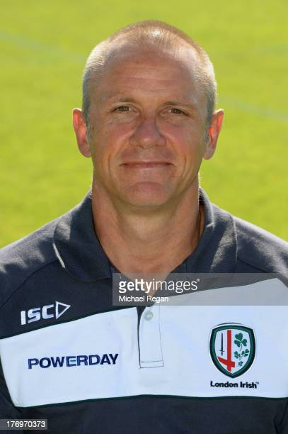 Head coach Brian Smith poses during the London Irish photocall on August 6 2013 in Sunbury England