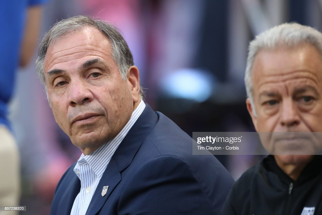 Head coach Bruce Arena of the United States on the sideine during the United States Vs Costa Rica CONCACAF International World Cup qualifying match at Red Bull Arena, Harrison, New Jersey on September 01, 2017 in Harrison, New Jersey.
