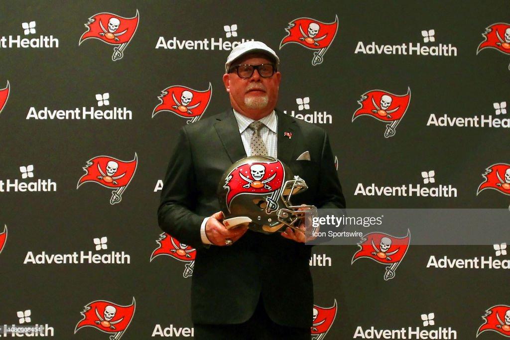 NFL: JAN  10 Bruce Arians Bucs Press Conference : News Photo