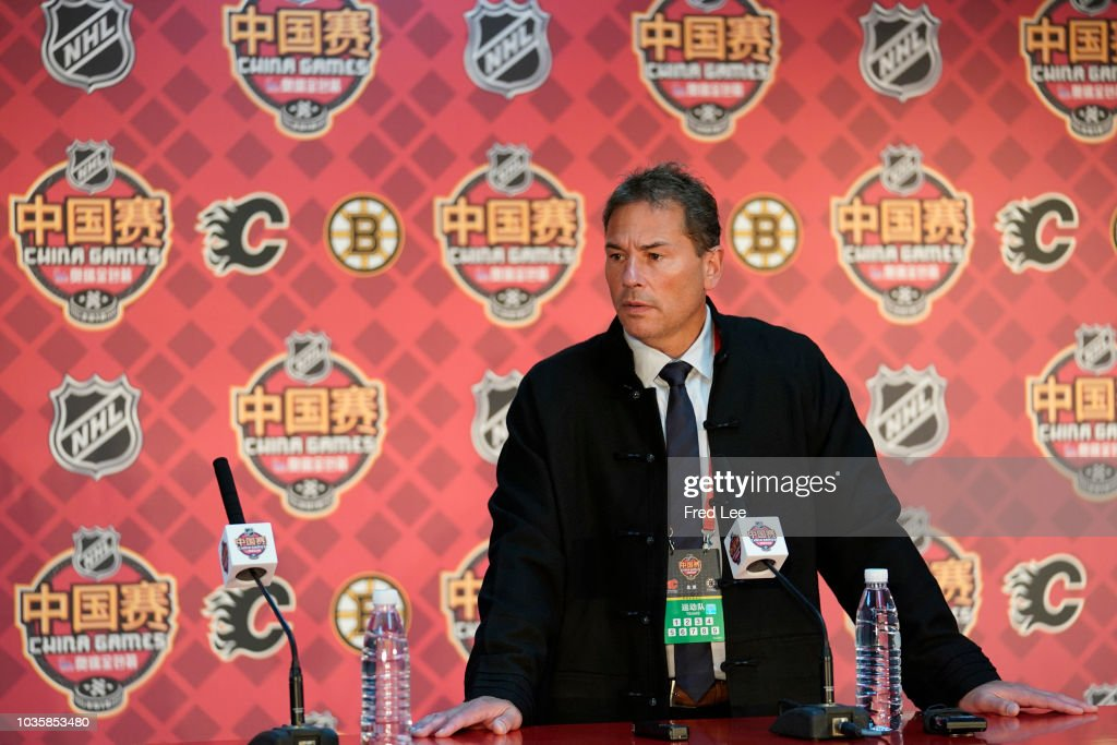 2018 O.R.G. NHL China Games - Boston Bruins v Calgary Flames