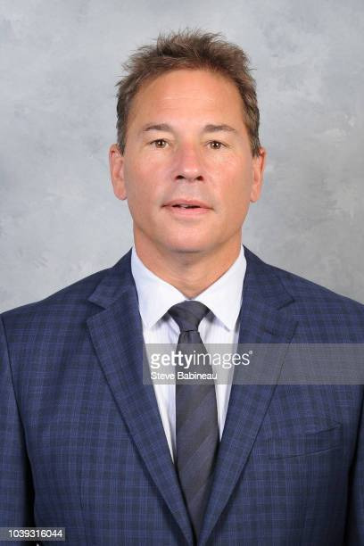 Head coach Bruce Cassidy of the Boston Bruins poses for his official head shot for the 20182019 season on September 11 2018 at the Warrior Ice Rink...