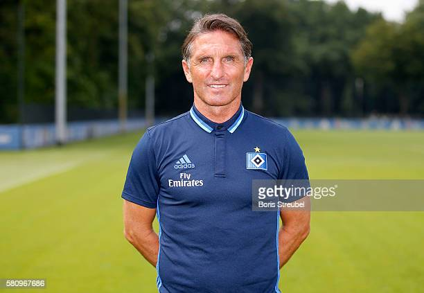 Head coach Bruno Labbadia of Hamburger SV poses during the Hamburger SV Team Presentation at Volksparkstadion on July 25 2016 in Hamburg Germany