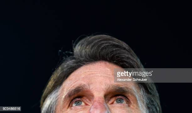 Head coach Bruno Labbadia of Wolfsburg is seen during the Bundesliga match between 1 FSV Mainz 05 and VfL Wolfsburg at Opel Arena on February 23 2018...