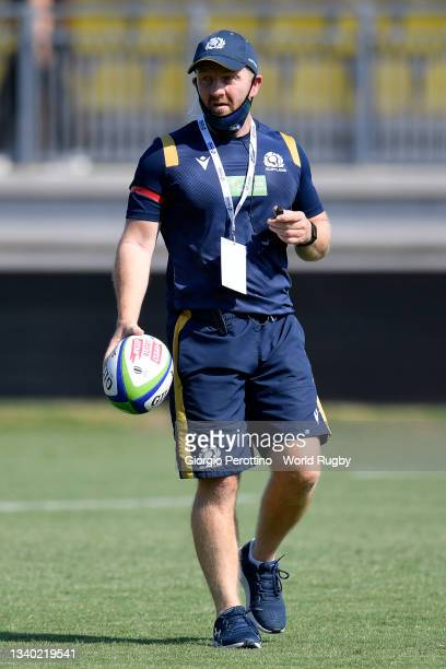 Head coach Bryan Easson of Scotland looks on during the Scotland v Italy Rugby World Cup 2021 Europe Qualifying match at Stadio Sergio Lanfranchi on...