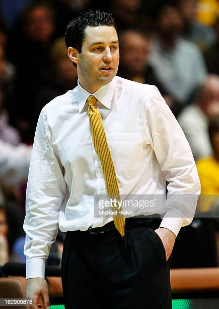 Head coach Bryce Drew of the Valparaiso Crusaders seen during the game against the Eastern Kentucky Colonels at AthleticsRecreation Center on...