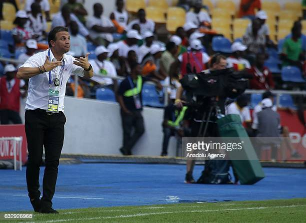 Head coach Burkina Faso National Football Team Paulo Duarte during the 2017 Africa Cup of Nations quarterfinal football match between Burkina Faso...