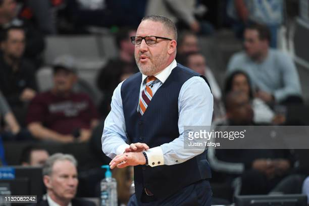 Head Coach Buzz Williams of the Virginia Tech Hokies signals to his team against the Saint Louis Billikens in the first round of the 2019 NCAA Men's...