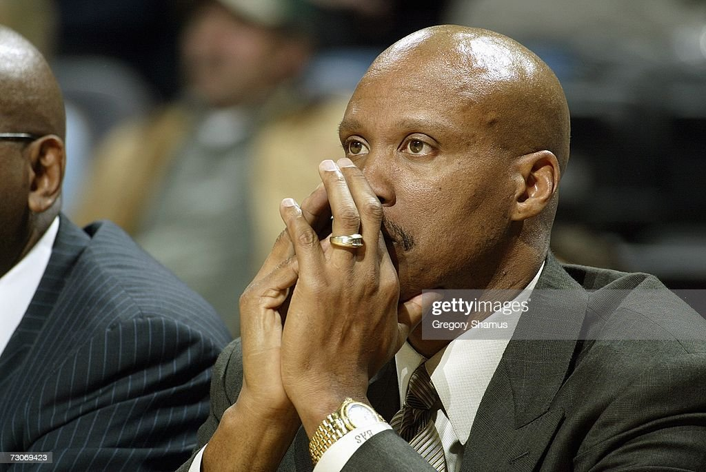 Head coach Byron Scott of the New Orleans/Oklahoma City Hornets looks on during the game against the Detroit Pistons on January 4, 2007 at the Ford Center in Oklahoma City, Oklahoma.