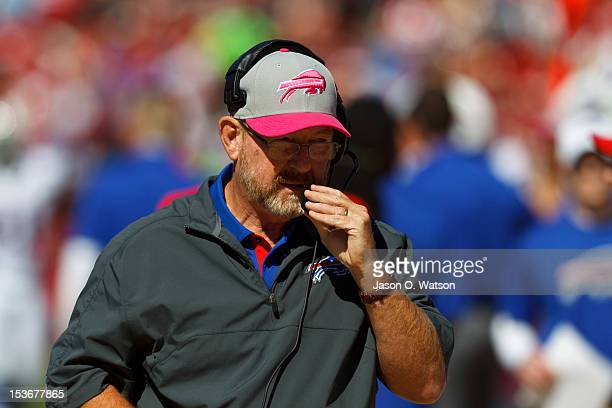 Head coach Chan Gailey of the Buffalo Bills on the sidelines against the San Francisco 49ers during the first quarter at Candlestick Park on October...