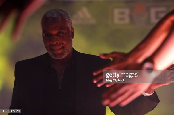 Head coach Charles Oakley of Killer 3s enters the arena before the BIG3 Championship game against the Triplets at Staples Center on September 01,...