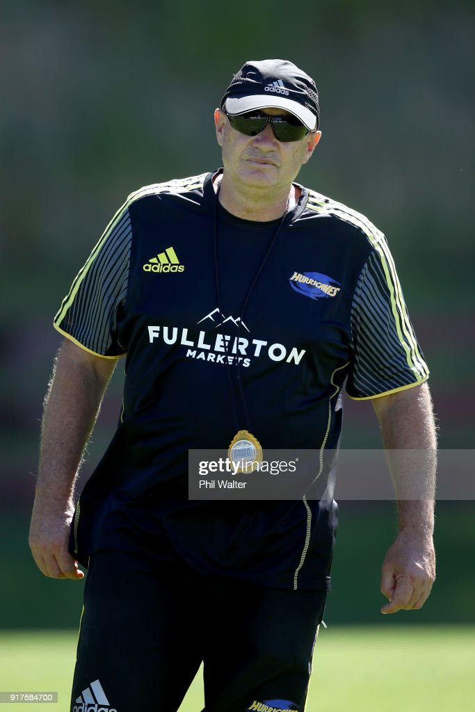 Head Coach Chris Boyd during a Hurricanes Super Rugby training session at Rugby League Park on February 13, 2018 in Wellington, New Zealand.