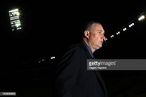 Head coach Chris Boyd of Wellington looks on during the round two ITM Cup match between Wellington and Hawke's Bay at Westpac Stadium on August 28...
