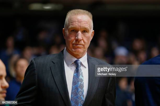 Head coach Chris Mullin of the St John's Red Storm is seen before the game against the Butler Bulldogs at Hinkle Fieldhouse on February 15 2017 in...