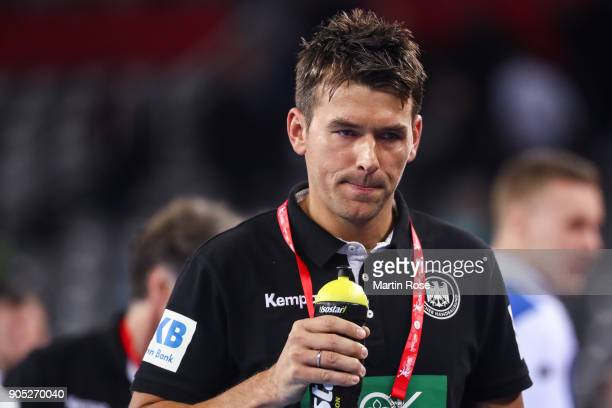 Head coach Christian Prokop of Germany reacts during the Men's Handball European Championship Group C match between Slovenia and Germany at Arena...