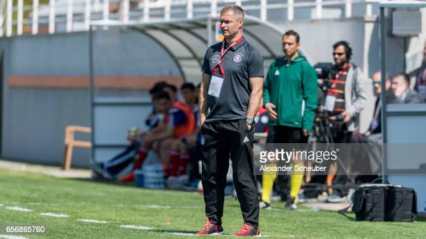 Head coach Christian Wueck of Germany is seen during the UEFA U17 elite round match between Germany and Armenia on March 23 2017 in Manavgat Turkey