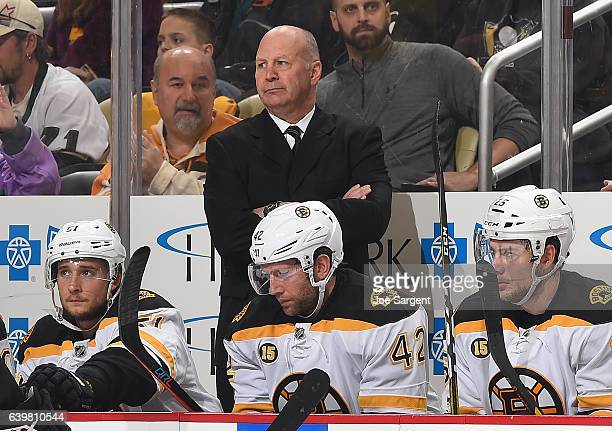 Head coach Claude Julien looks on during the game against the Pittsburgh Penguins at PPG Paints Arena on January 22 2017 in Pittsburgh Pennsylvania