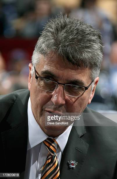 Head Coach Claude Noel of the Winnipeg Jets attends the 2013 NHL Draft at Prudential Center on June 30 2013 in Newark New Jersey