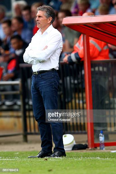 Head coach Claude Puel of Southampton looks on during the friendly match between Twente Enschede and FC Southampton at Q20 Stadium on July 27 2016 in...