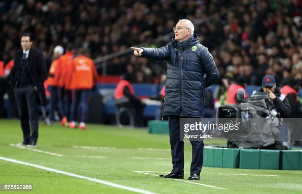 Head coach Claudio Ranieri of FC Nantes in action during the Ligue 1 match between Paris SaintGermain and FC Nantes at Parc des Princes on November...