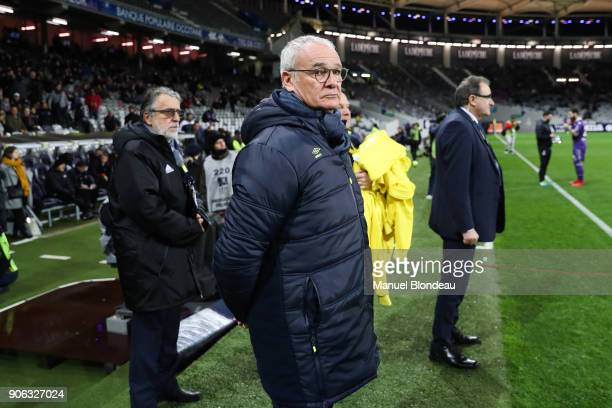 Head coach Claudio Ranieri of Nantes during the Ligue 1 match between Toulouse and Nantes at Stadium Municipal on January 17 2018 in Toulouse