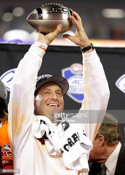 Head coach Dabo Swinney of the Clemson Tigers celebrates ...