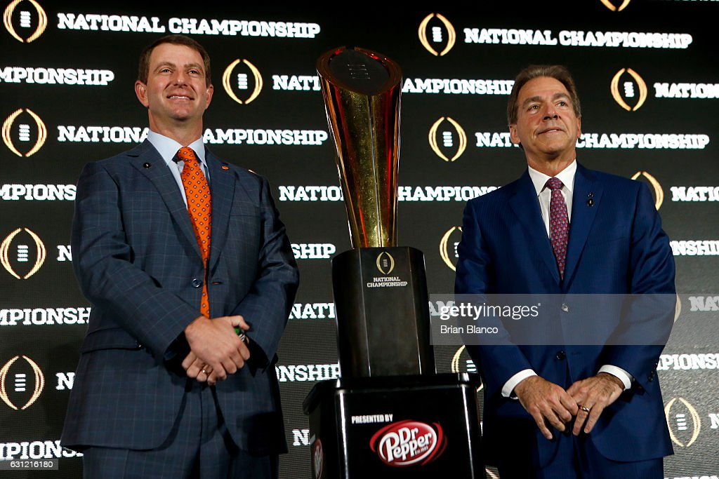 College Football Playoff - Head Coaches Press Conference : News Photo