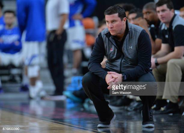 Head coach Dan McHale of the Eastern Kentucky Colonels looks on during his team's game against the Prairie View AM Panthers during day one of the...