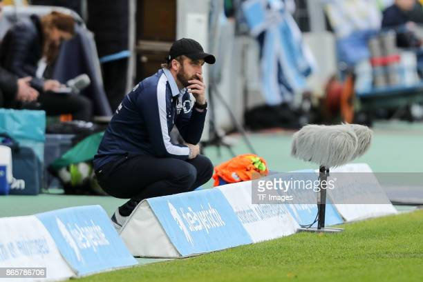 Head coach Daniel Bierofka of 1860 Muenchen looks on during the match between TSV 1860 Muenchen and Bayern Muenchen II at Stadion an der Grünwalder...