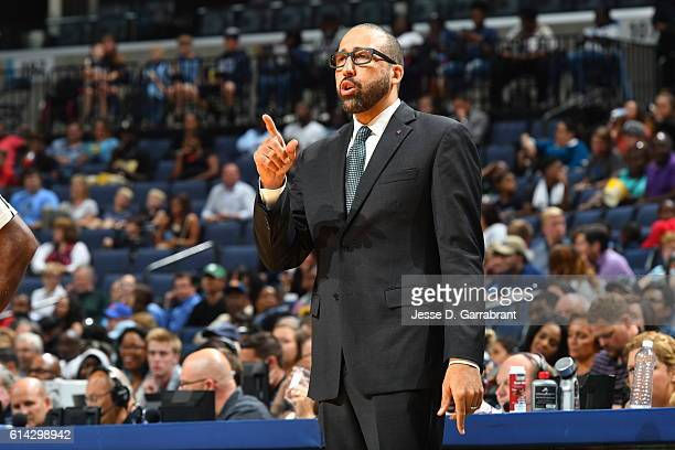 Head Coach David Fizdale of the Memphis Grizzlies is seen during the game against the Philadelphia 76ers on October 11 2016 at FedExForum in Memphis...