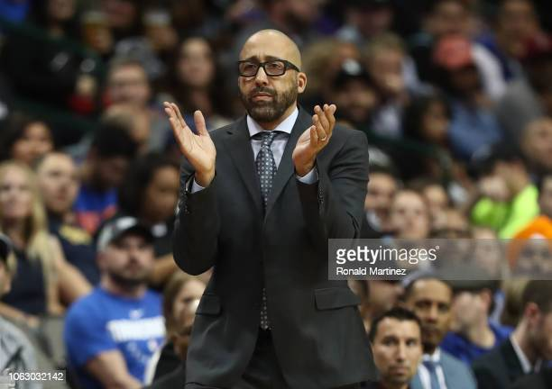 Head Coach David Fizdale of the New York Knicks at American Airlines Center on November 02 2018 in Dallas Texas NOTE TO USER User expressly...