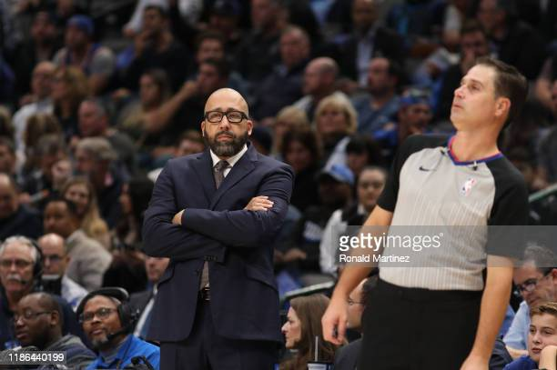 Head coach David Fizdale of the New York Knicks at American Airlines Center on November 08 2019 in Dallas Texas NOTE TO USER User expressly...