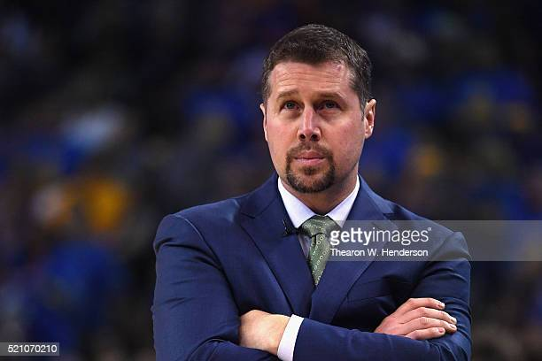 Head coach David Joerger of the Memphis Grizzlies looks on during the game against the Golden State Warriors at ORACLE Arena on April 13 2016 in...