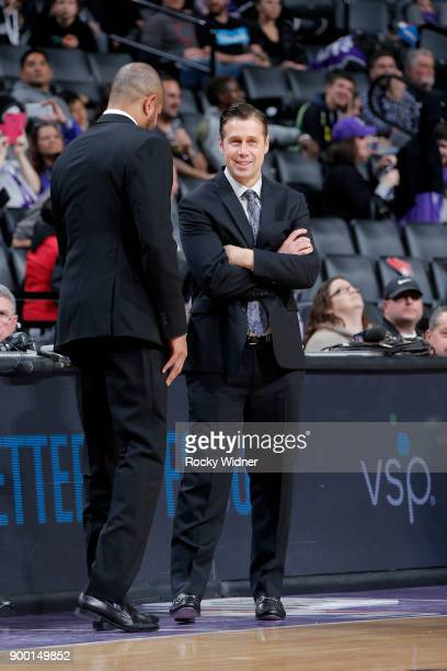 Head Coach David Joerger of the Sacramento Kings during the game against the Memphis Grizzlies on December 31 2017 at Golden 1 Center in Sacramento...