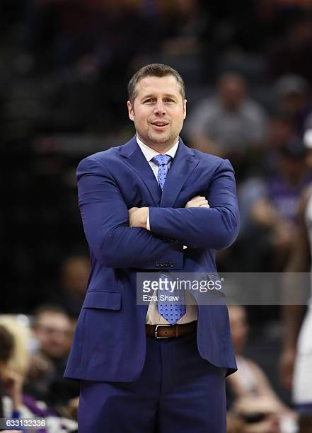 Head coach David Joerger of the Sacramento Kings stands on the court during their game against the Los Angeles Lakers at Golden 1 Center on December...